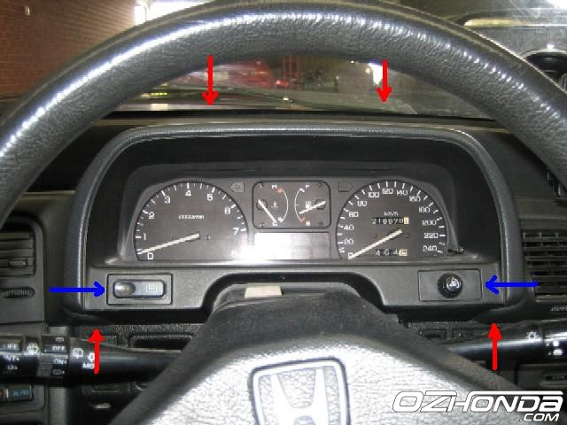 88 crx cluster wiring diagram insight cluster wiring