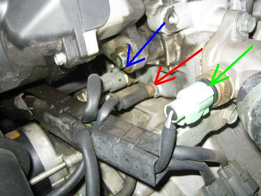 Discussion T27352 ds624623 further Where is my iat air intake sensor as well 05 Pathfinder Oil Pressure Sensor Location further P1126 2001 nissan altima also 372473 Help Location Knock Sensor Engine Coolant Temperature Sensor. on 1999 nissan maxima thermostat location